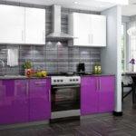 Фиолетовый цвет на кухне