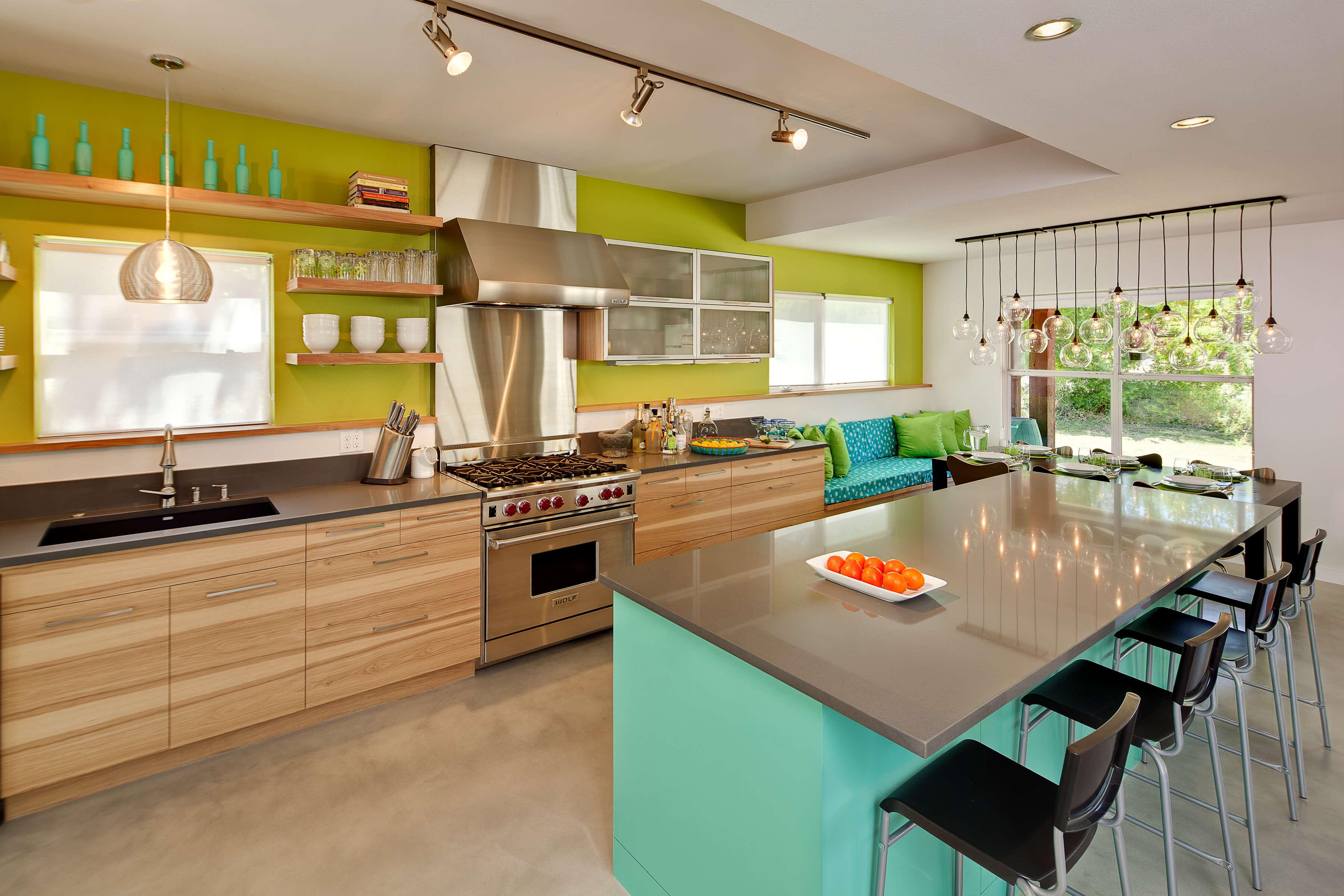 цветовые решения в интерьере кухни